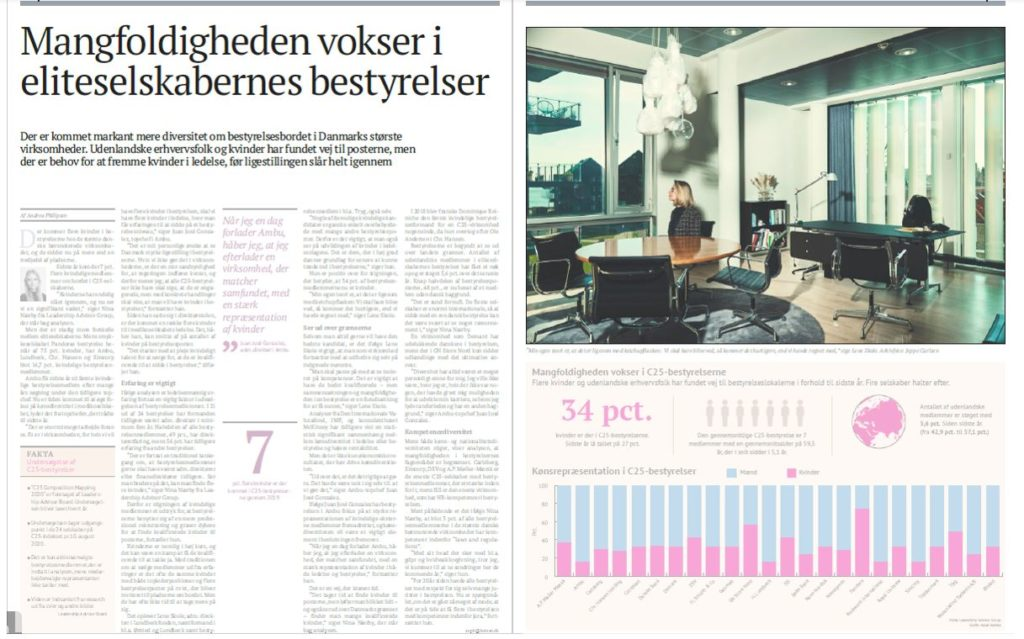 Diversity is increasing on the boards of Danish C25 companies