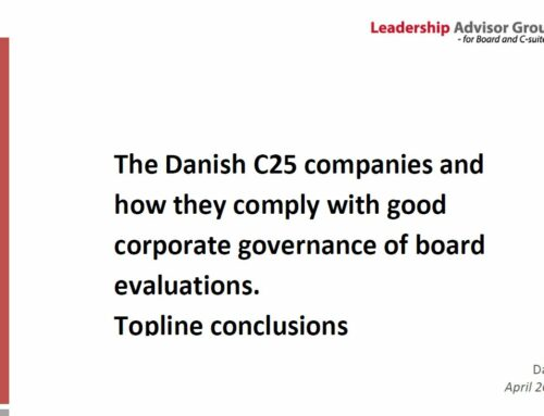 How well do the Danish C25 companies comply with guidelines for board evaluation?