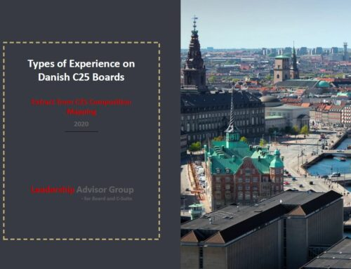 Types of experience on Danish C25 Boards of Directors